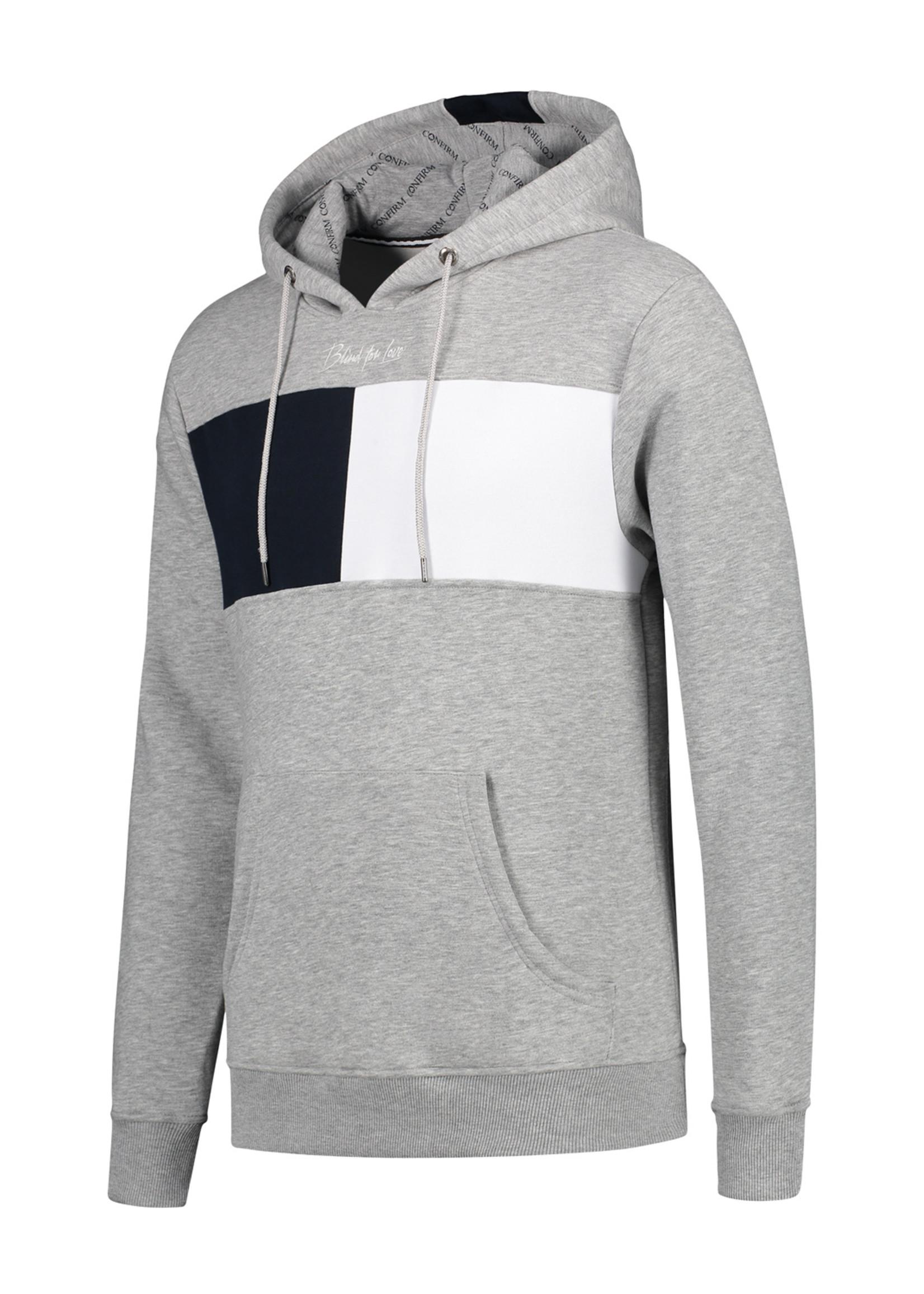 Confirm hoodie blind for love - grijs