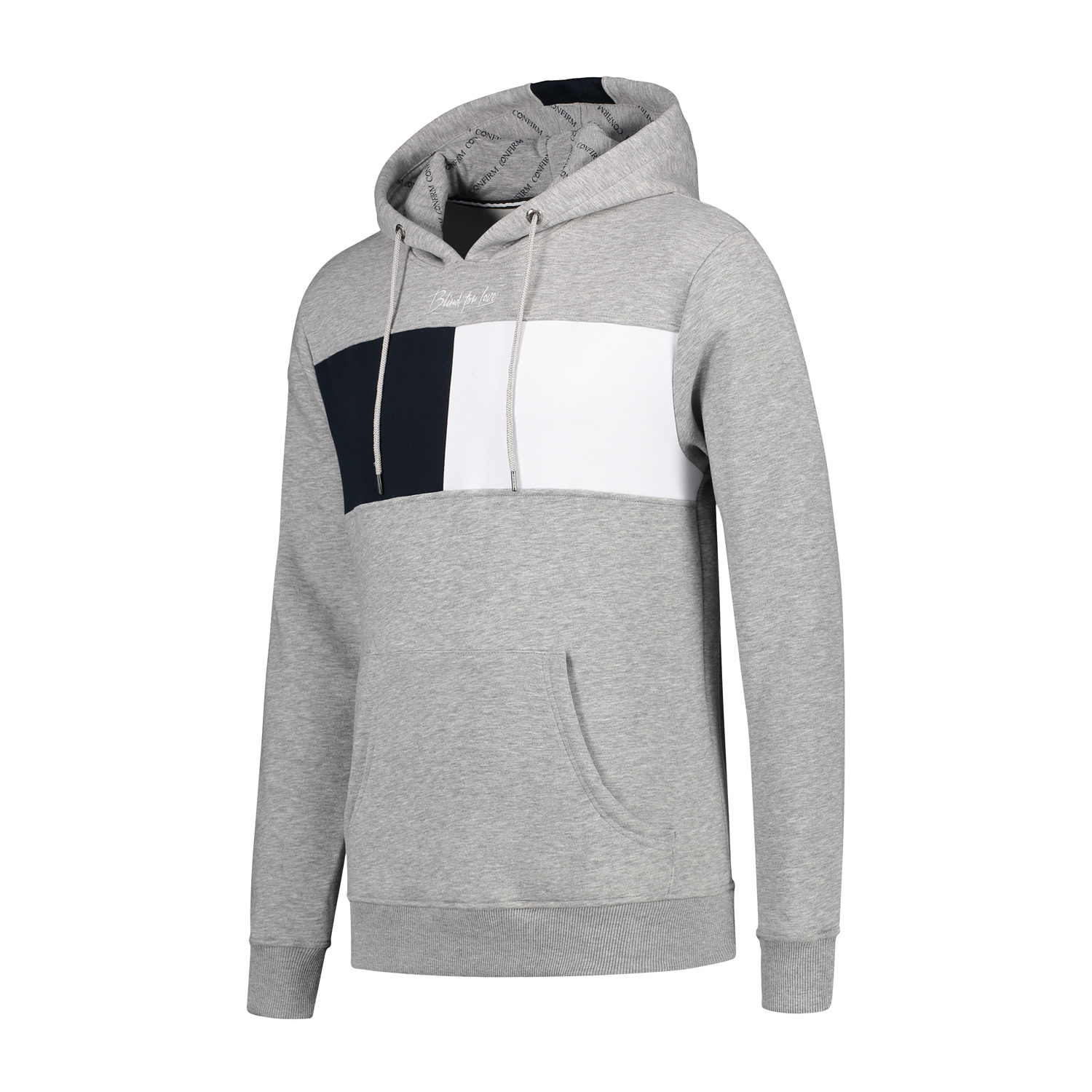 Confirm hoodie blind for love - grey-2
