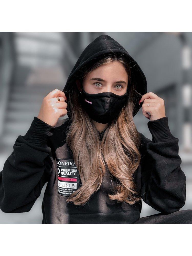 Confirm mondkapje set van 2 - zwart/roze