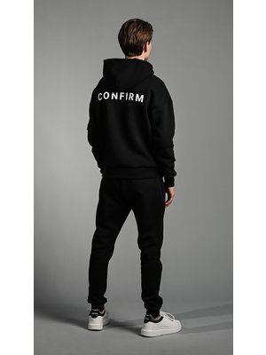 CONFIRM hoodie pocketlabel - zwart