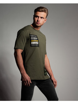 Confirm T-shirt pocketlabel - army