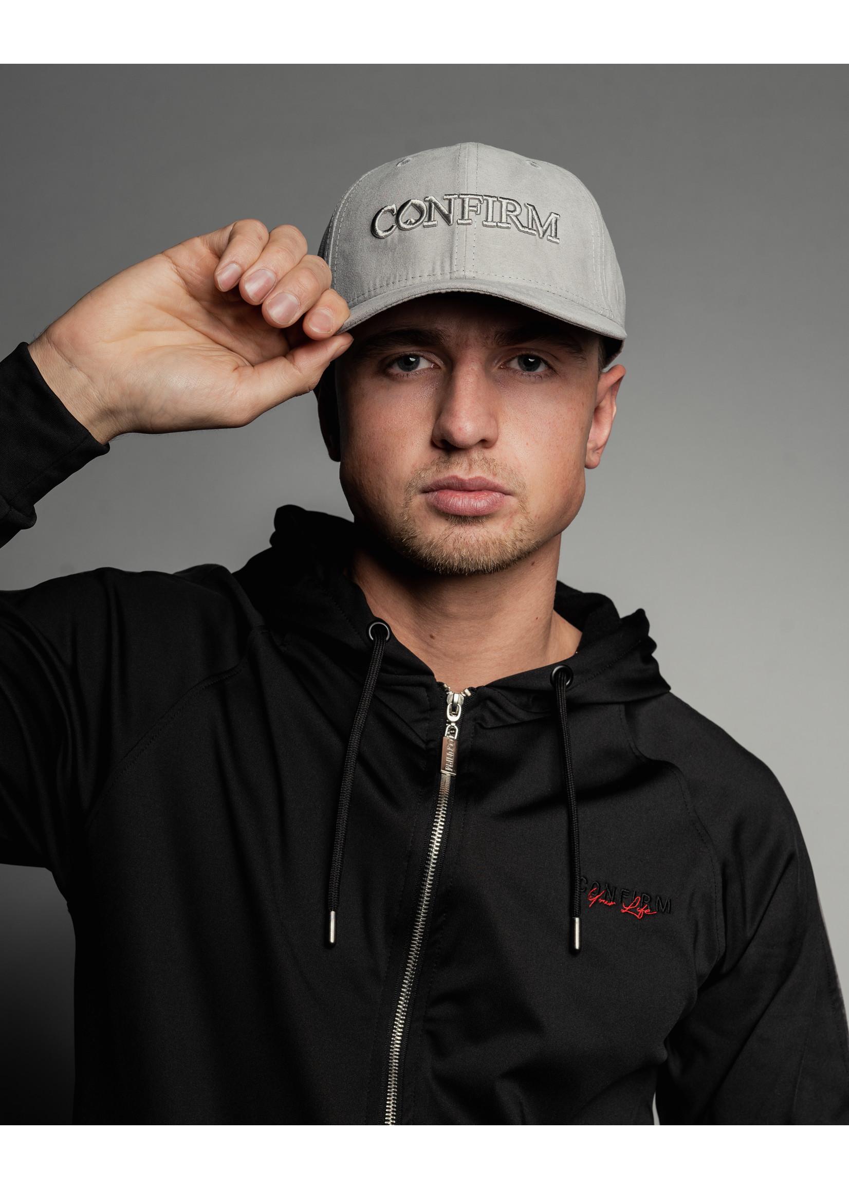 Confirm brand suede look cap - light grey