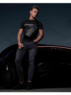 Confirm brand banner T-shirt - dark grey