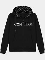 Brand hoodie vest - zwart