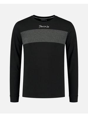 T-shirt blind for love - zwart