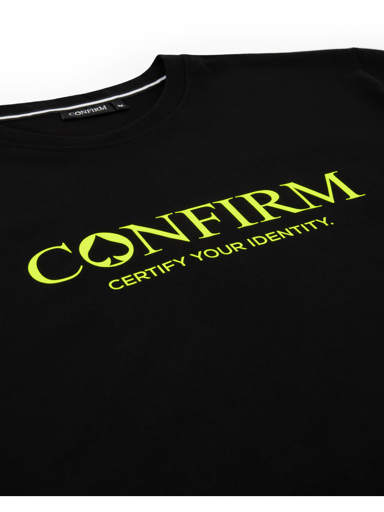 Confirm brand  T-shirt identity - neon geel