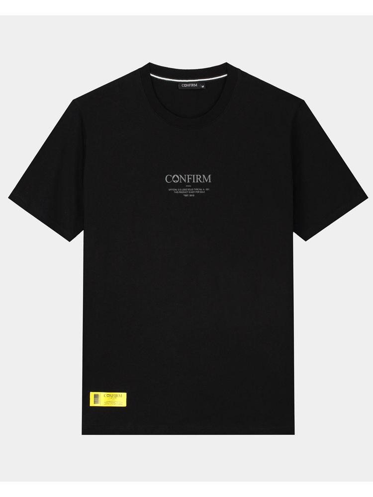 Confirm brand T-shirt O.G. - black