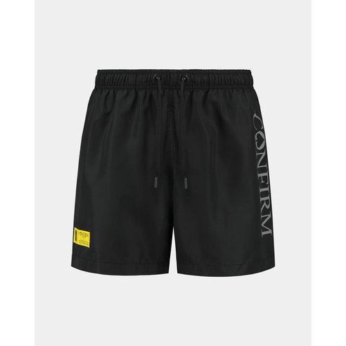 Brand swim short O.G. - black/yellow