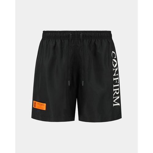 Brand swim short O.G. - black/orange