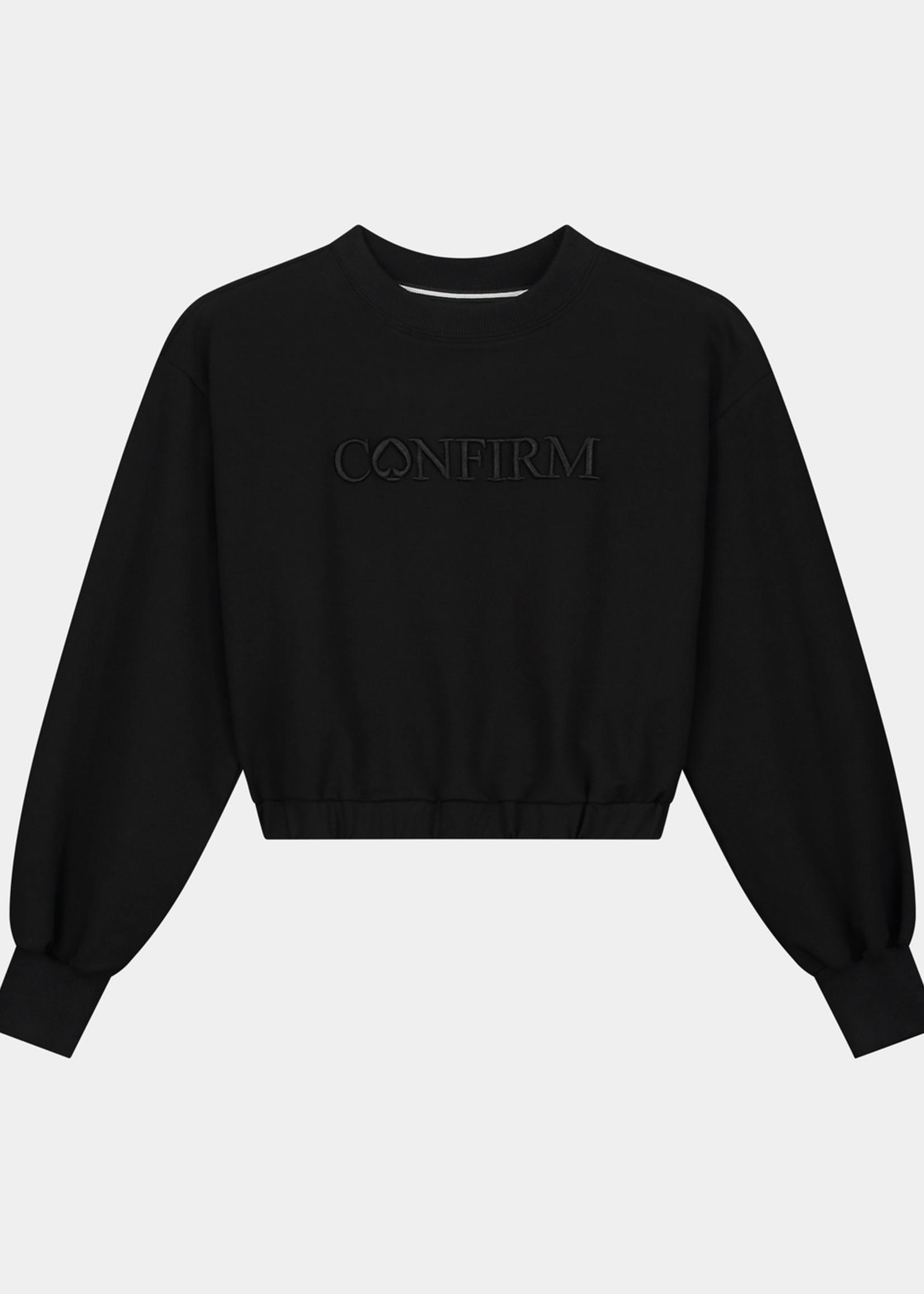 Confirm Caramella crop top - black