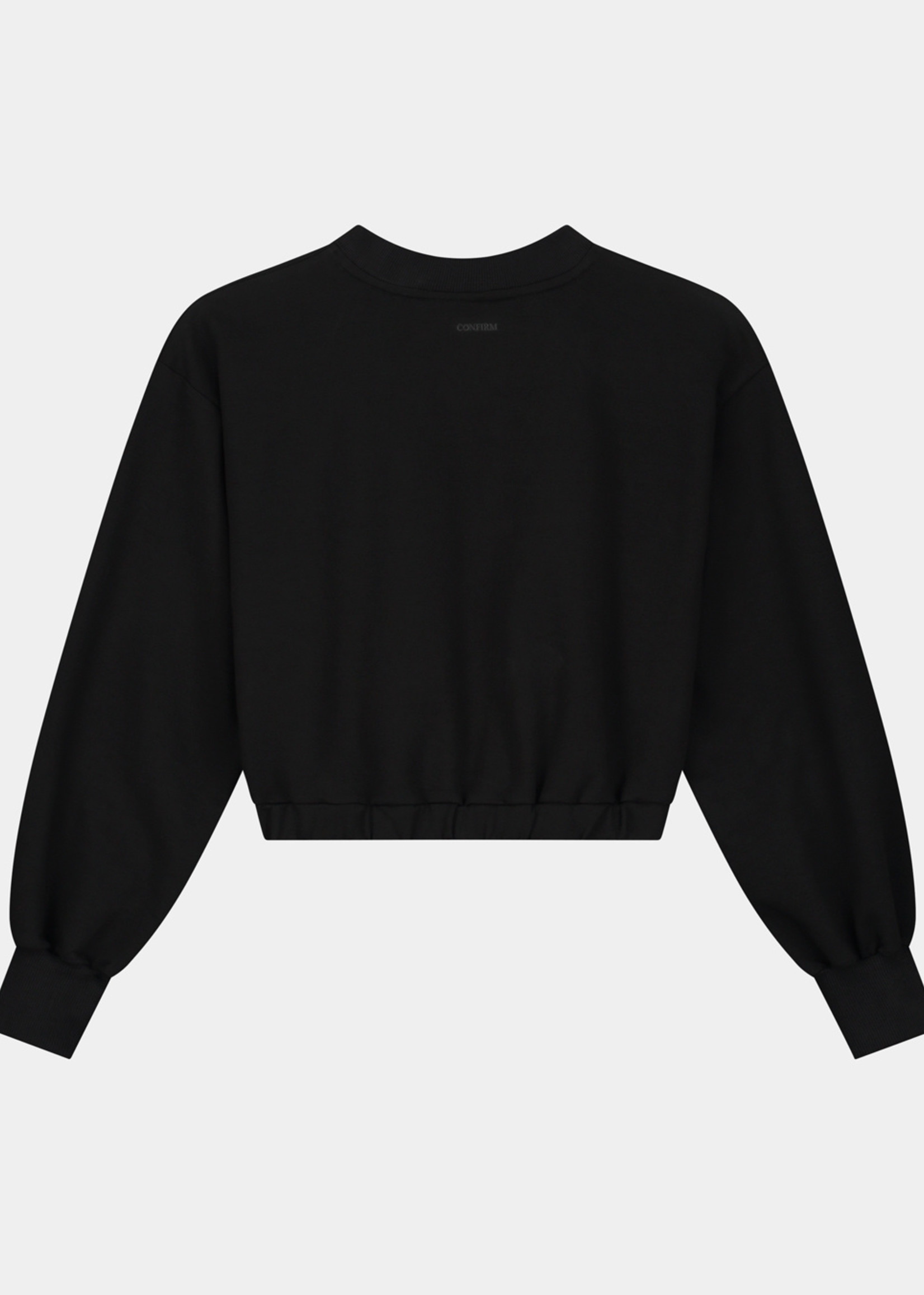 Confirm Caramella crop top - zwart