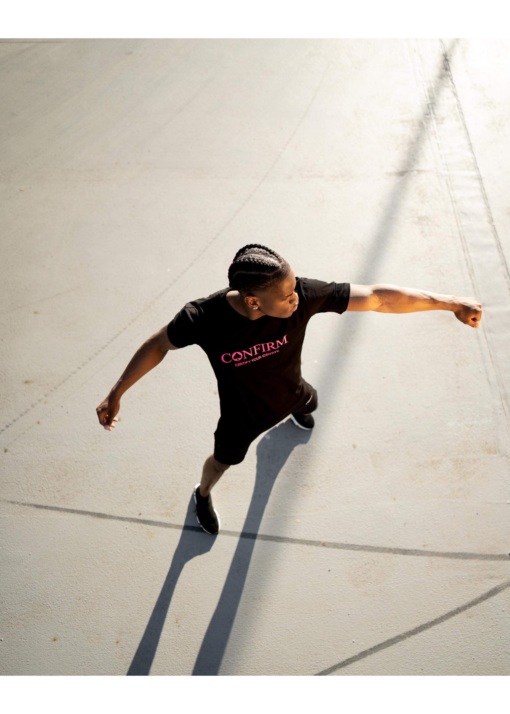 Confirm brand  T-shirt identity - neon roze
