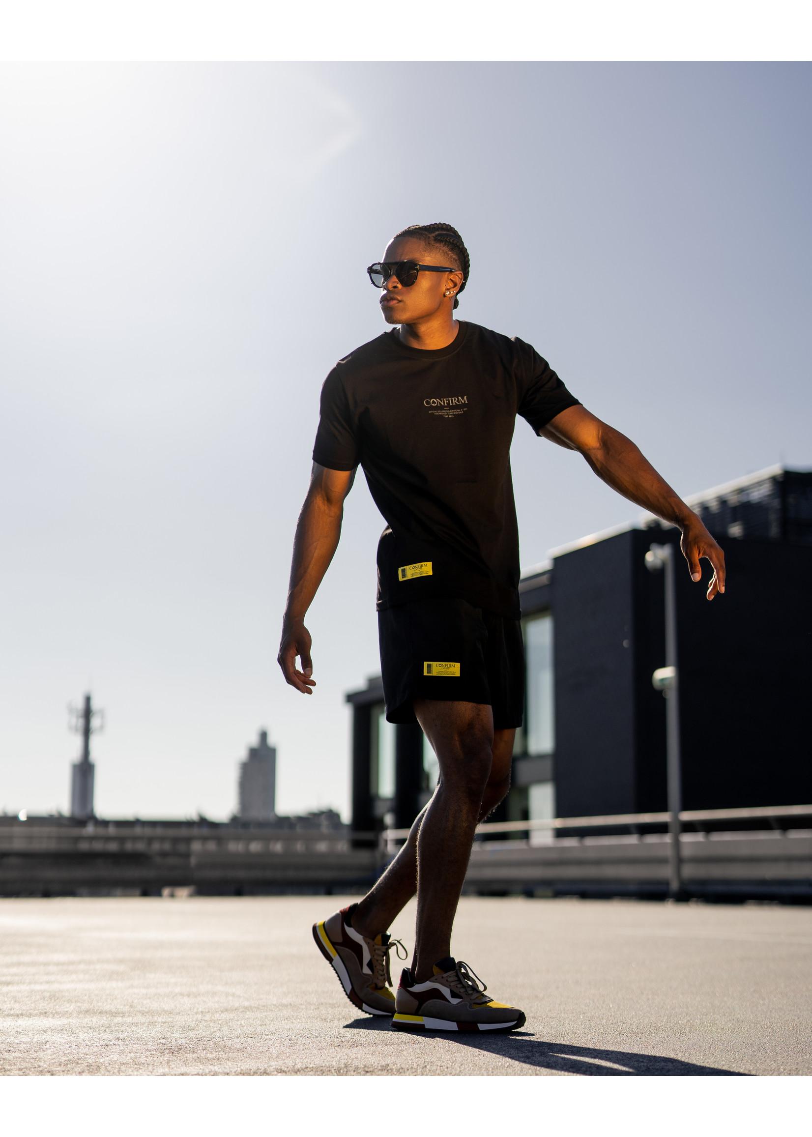 Confirm brand swim short O.G. - black/yellow