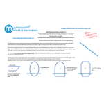 Matratze nach Mass Oval Babymatratze nach Maß Kaltschaum HR55