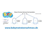 Matratze nach Mass Oval Babymatratze nach Maß Kaltschaum HR80