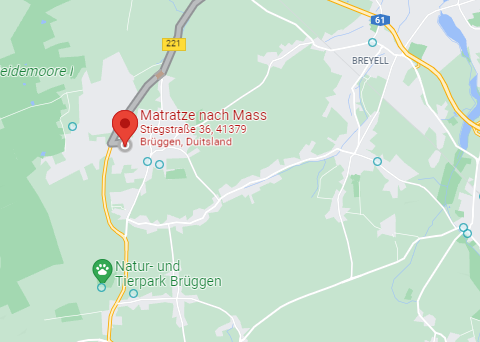Matratze nach mass google maps