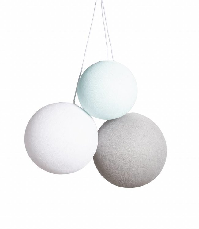 COTTON BALL LIGHTS Triple Hanging Lamp 1 point - Sea Breeze