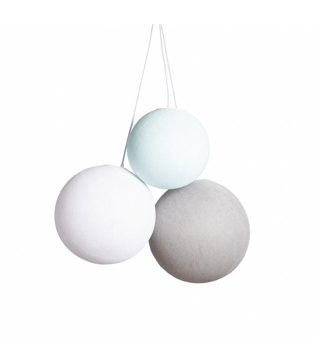 COTTON BALL LIGHTS Drievoudig Hanglamp - Sea Breeze