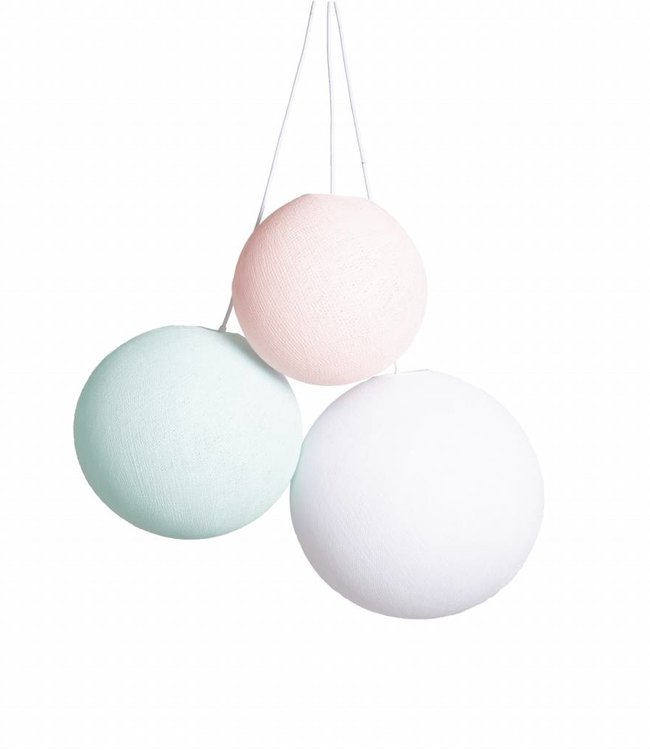 COTTON BALL LIGHTS Triple Hanging Lamp 1 point - Spring