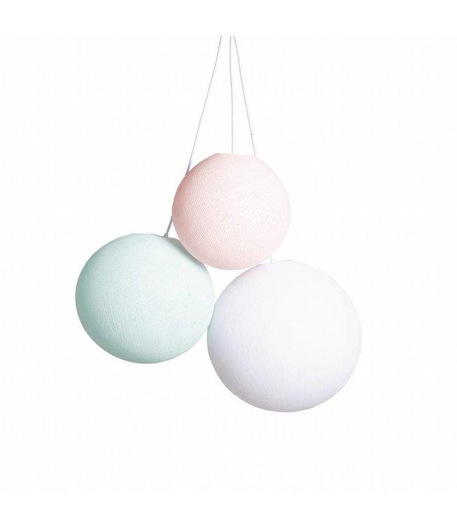 COTTON BALL LIGHTS Dreifache Hängelampe - Spring (ein Punkt)