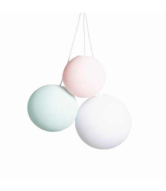 COTTON BALL LIGHTS Triple Hanging Lamp - Spring (one point)