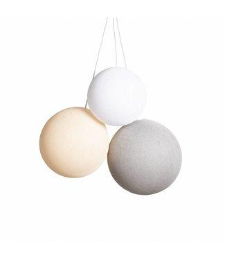 COTTON BALL LIGHTS Triple Hanglamp - Natural Colors