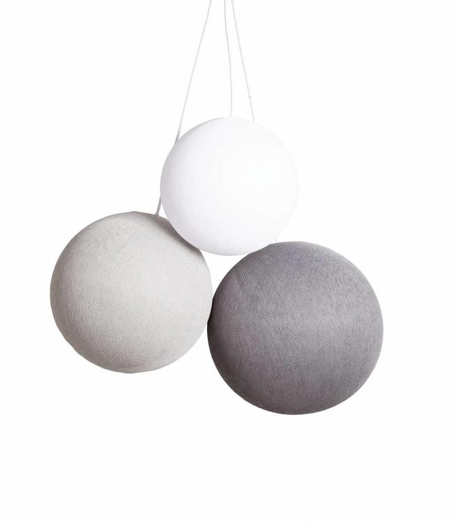 COTTON BALL LIGHTS Triple Hanging Lamp 1 point - Shades of Grey