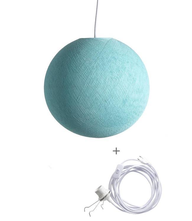 COTTON BALL LIGHTS Wandering Lampe - Aqua