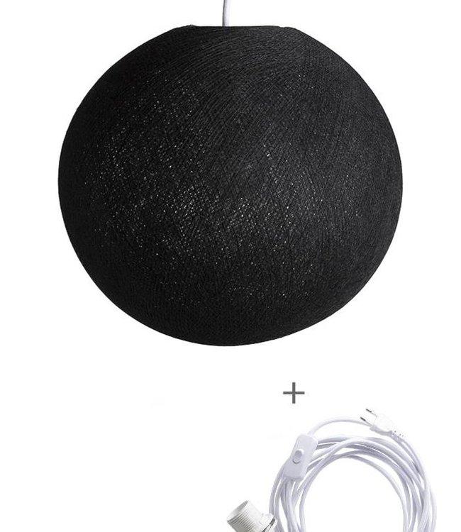COTTON BALL LIGHTS Wandering Lamp - Black