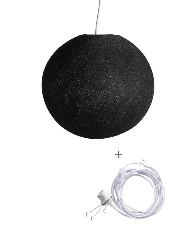 COTTON BALL LIGHTS Wandering Lamp - Black