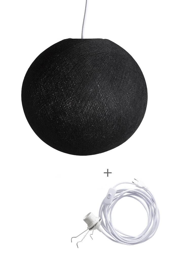 Cotton Ball Lights wandering hanglamp zwart - Black