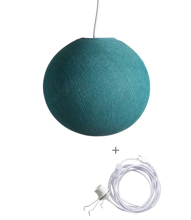 COTTON BALL LIGHTS Wandering Lamp - Heavy Aqua