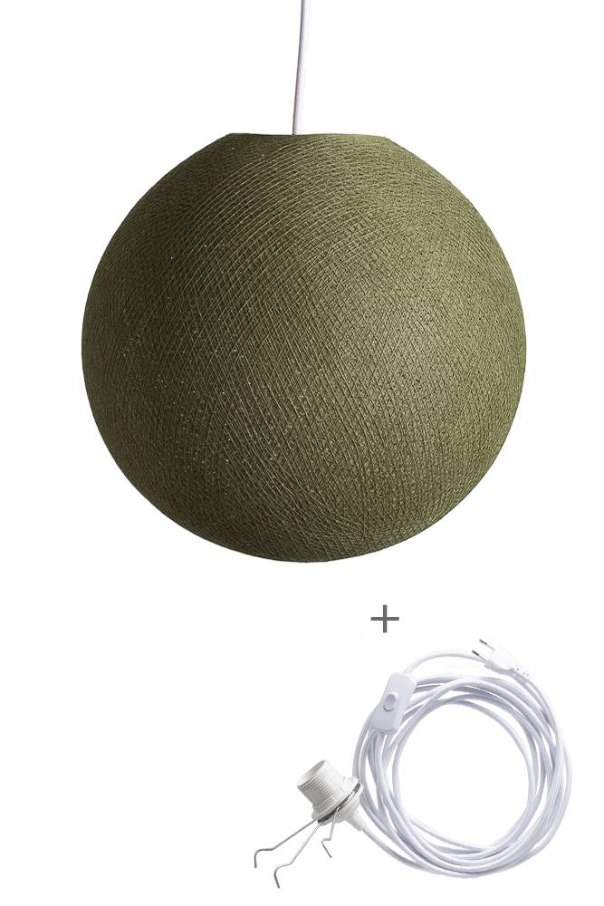 Cotton Ball Lights wandering hanglamp groen - Kaki