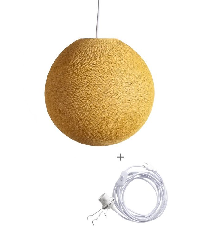 COTTON BALL LIGHTS Wandering Lampe - Mustard