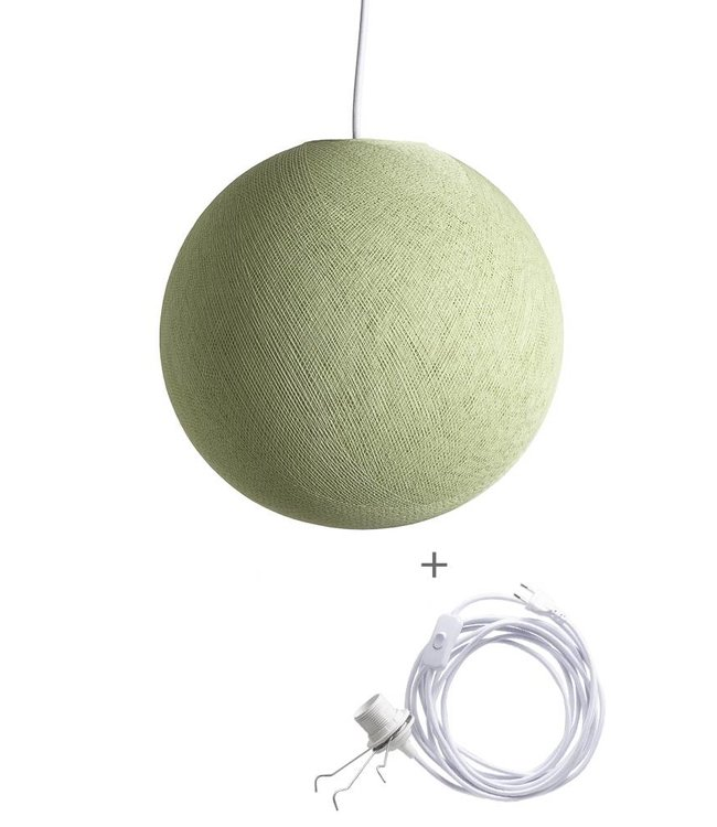COTTON BALL LIGHTS Wandering Lampe - Powder Green