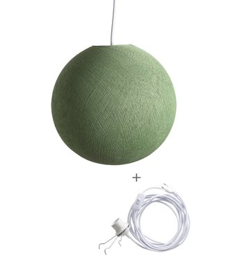 COTTON BALL LIGHTS Wandering Lampe - Sage Green