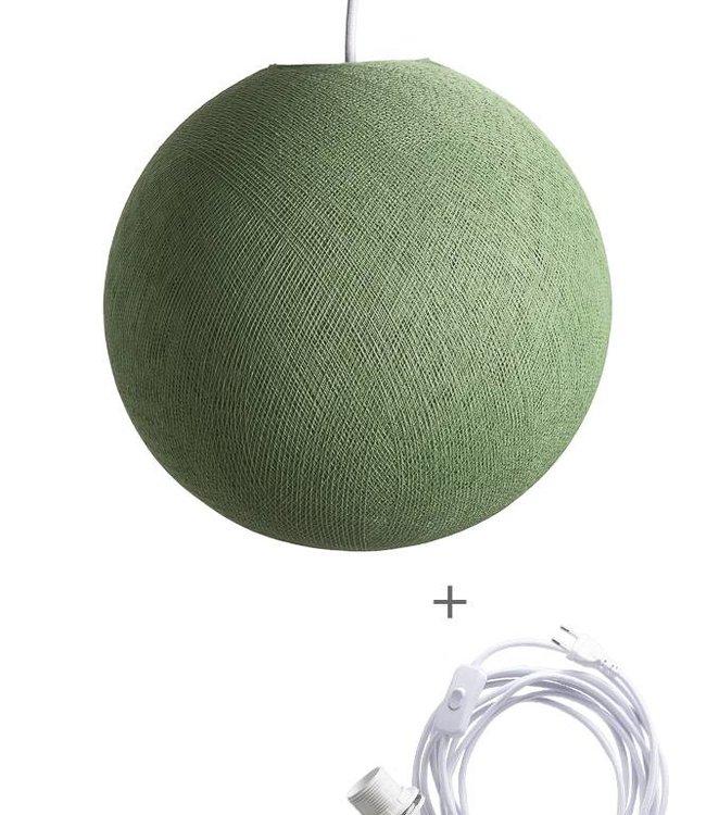 COTTON BALL LIGHTS Wandering Lampe - Sage Green