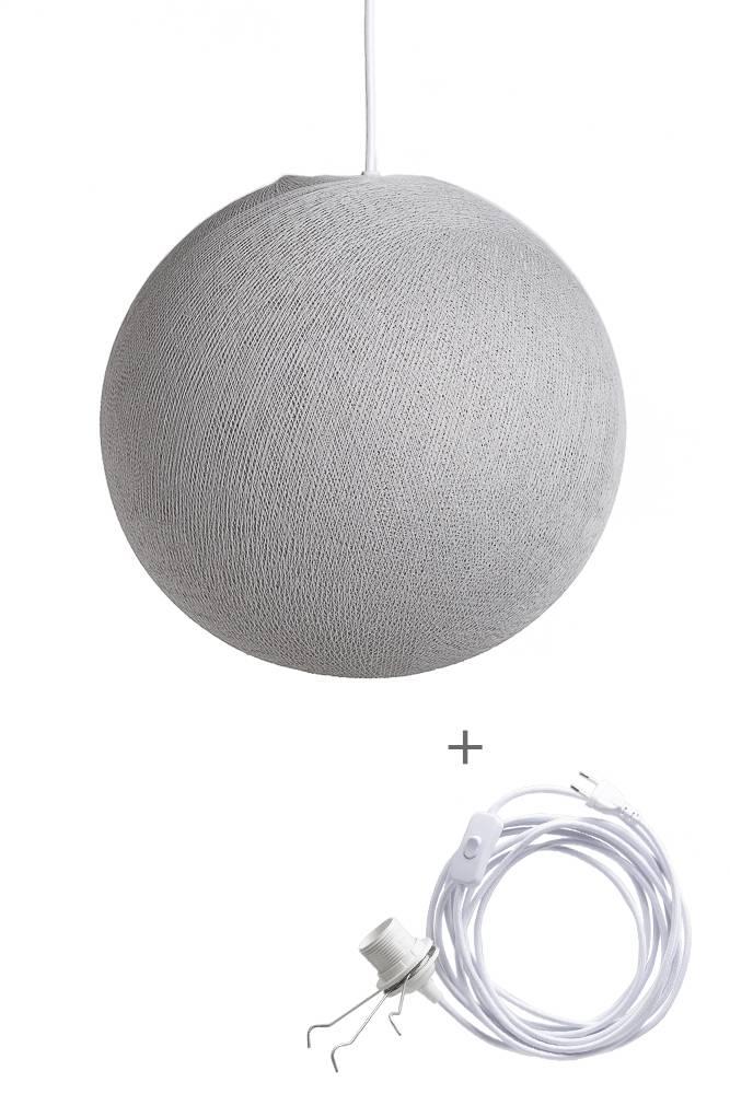 Cotton Ball Lights wandering hanglamp grijs - Stone