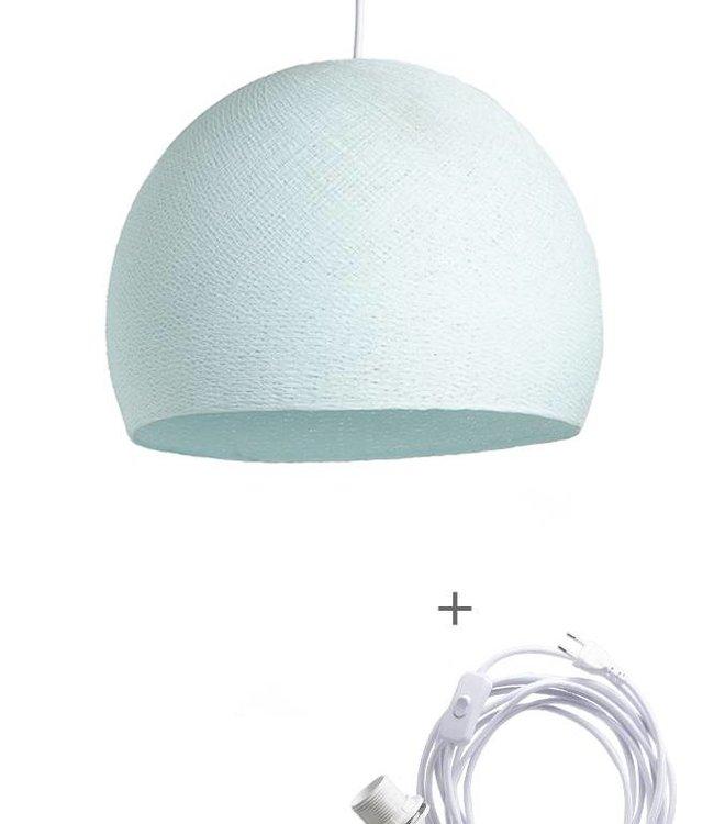 COTTON BALL LIGHTS Wandering Lamp Driekwart - Light Aqua