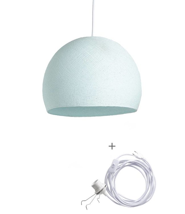 COTTON BALL LIGHTS Wandering Lamp Driekwart - Light Aqua