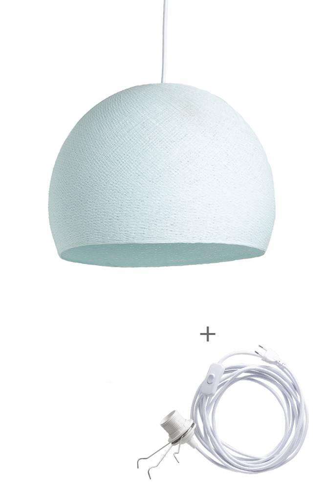 Cotton Ball Lights driekwart wandering hanglamp licht blauw - Light Aqua
