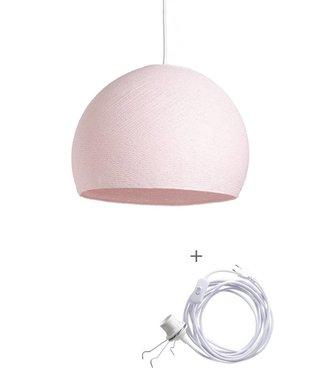 COTTON BALL LIGHTS Wandering Lamp Three Quarter - Light Pink
