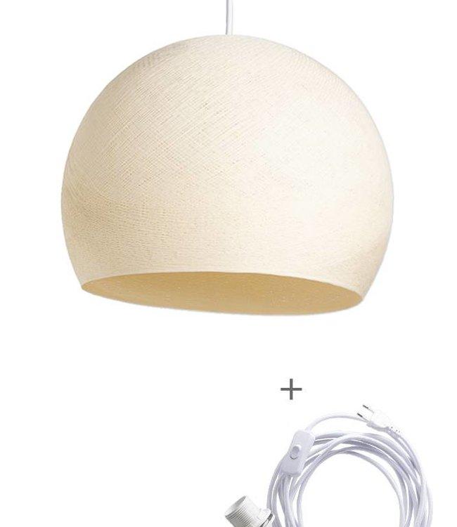 COTTON BALL LIGHTS Wandering Lamp Driekwart - Shell
