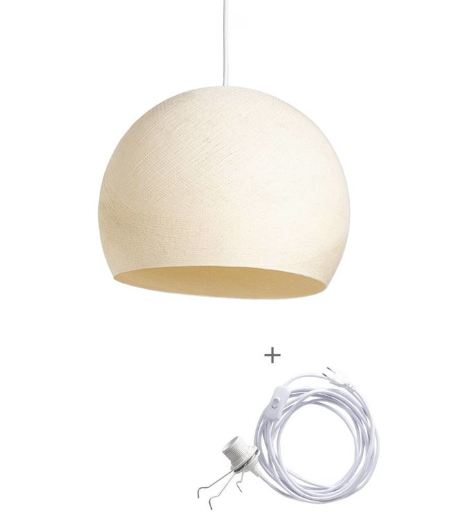 COTTON BALL LIGHTS Wandering Lamp Driekwart - Shell
