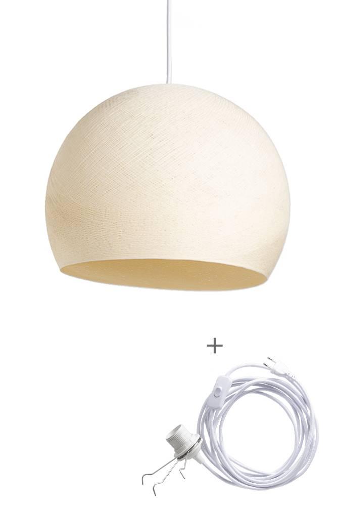 Cotton Ball Lights driekwart wandering hanglamp beige - Shell
