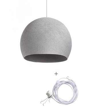 COTTON BALL LIGHTS Wandering Lamp Driekwart - Stone