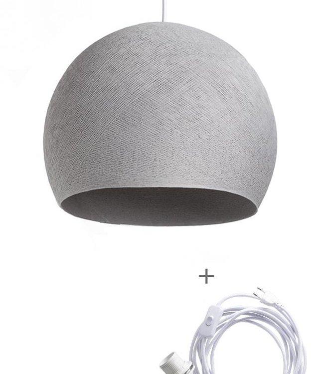 COTTON BALL LIGHTS Wandering Lamp Driekwart - Stone