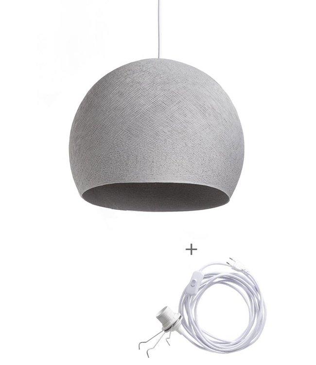 COTTON BALL LIGHTS Wandering Lamp Three Quarter - Stone