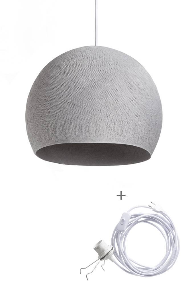 Cotton Ball Lights driekwart wandering hanglamp grijs - Stone