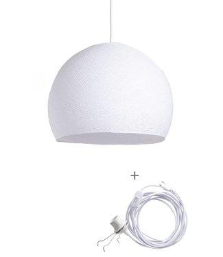 COTTON BALL LIGHTS Wandering Lampe Drei Viertel - White